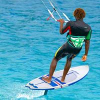 Kite lesson hydrofoil by KiteProvo Turks and Caicos